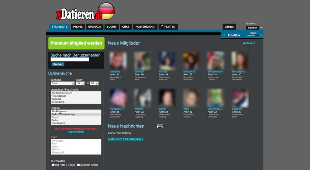 xDatieren-Mitgliederbereich