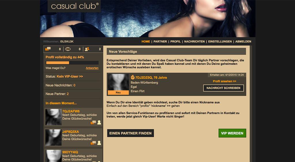 Casual-Club-Mitgliederbereich