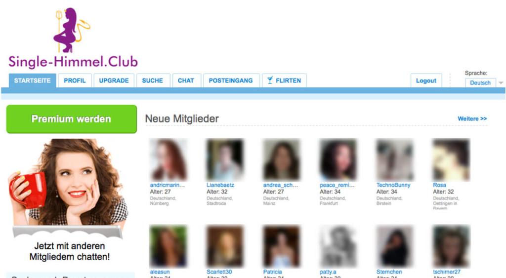 Single-Himmel.club-Mitgliederbereich