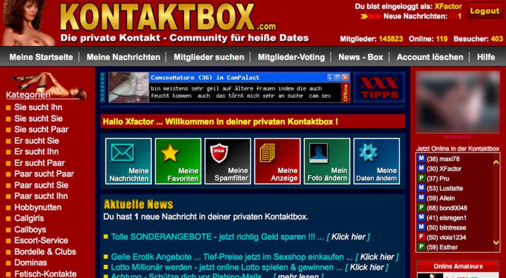 Kontaktbox-Mitgliederbereich
