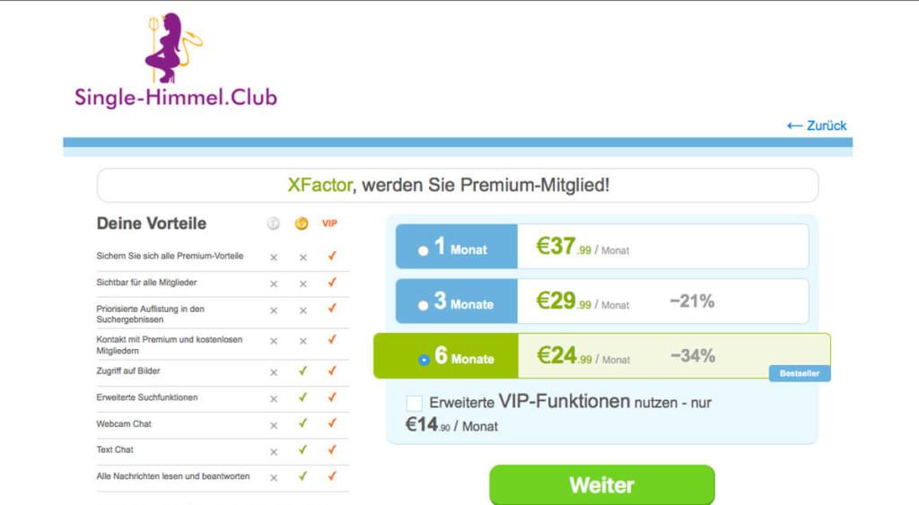 Single-Himmel.club-Kosten