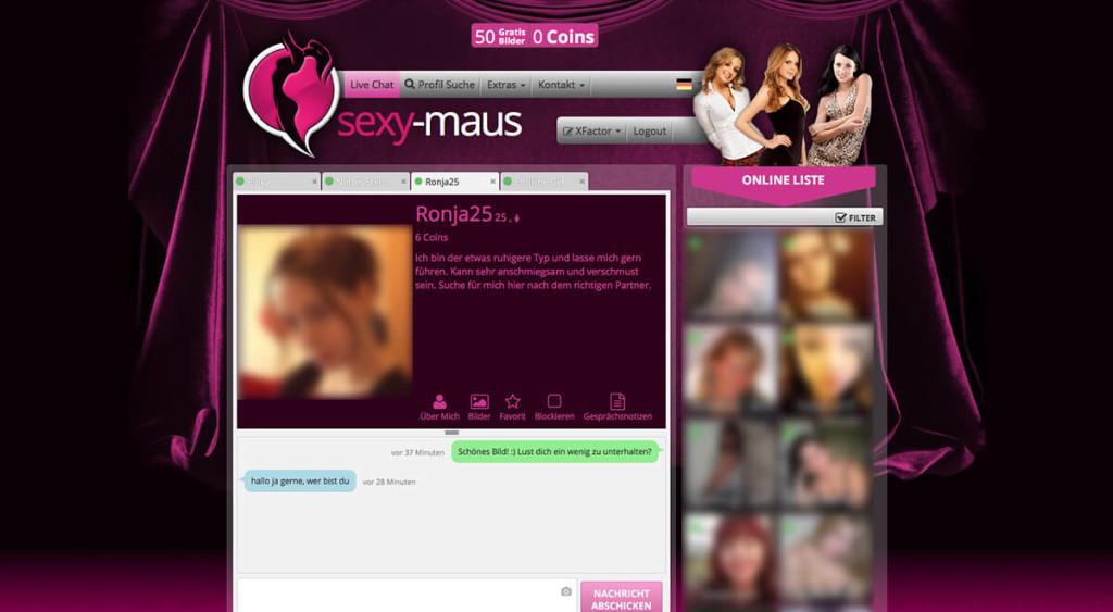 Sexymaus-Mitgliederbereich