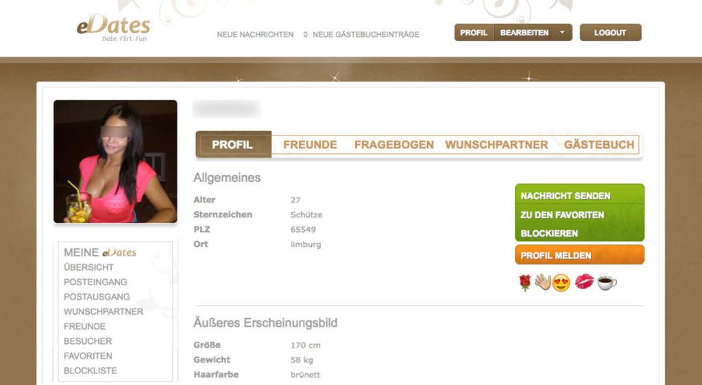 eDates-Profil