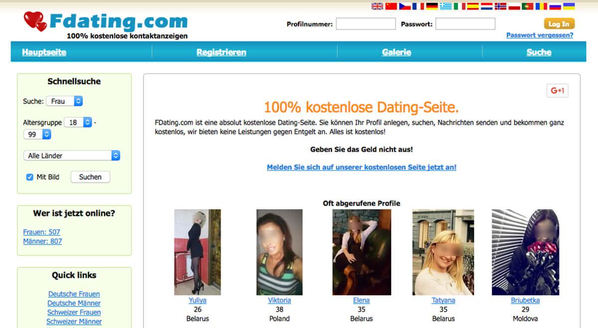 Kostenlose dating seiten für männer